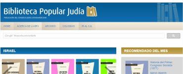 La colección de libros electrónicos de la Biblioteca Popular Judía