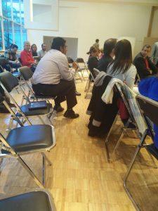 El público se mostró muy interesado y participativo