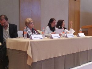 De izquierda a derecha: Antolín Sánchez Cuervo, Alicia Gojman, Gabriela Fainstein y Daniela Gleizer