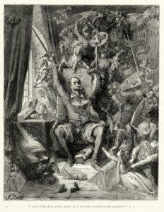La locura de Don Quijote según Doré.