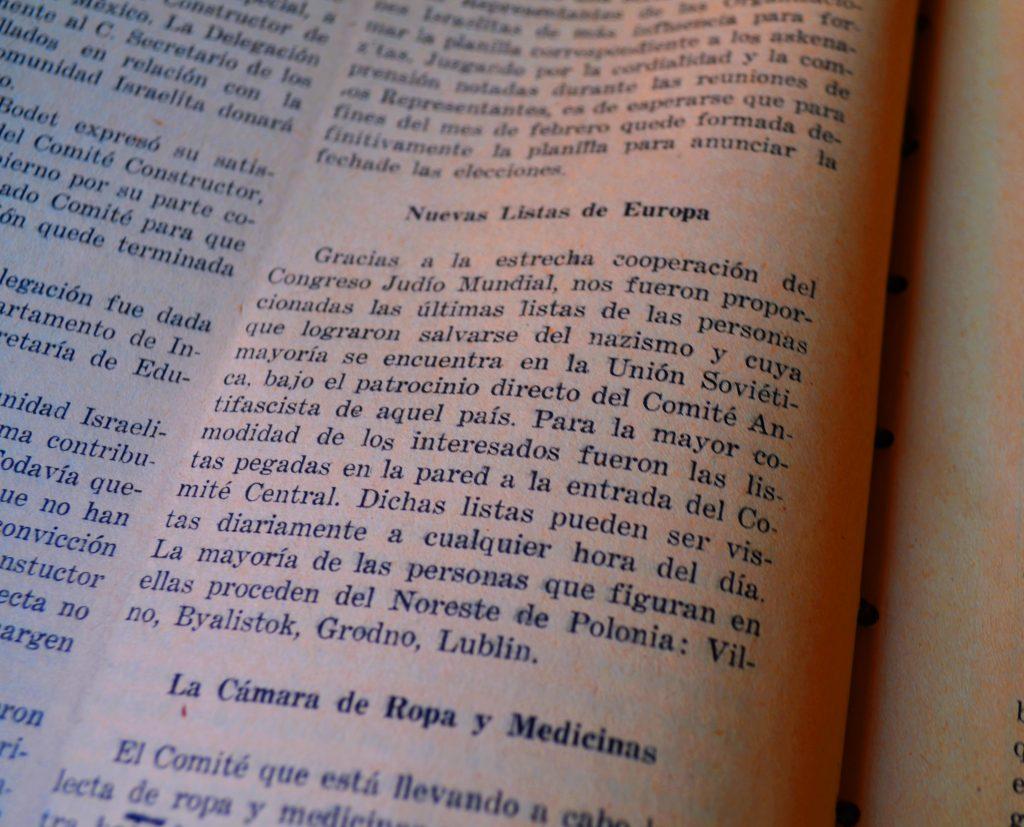 Optimismo Juvenil, febrero de 1945. / Hemeroteca CDIJUM.