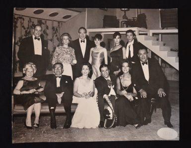 Bertha Moss con celebridades del cine mexicano